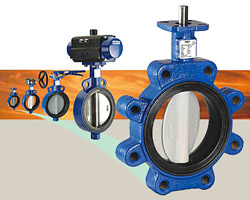 Butterfly valves at Fox Valley Fittings & Controls, Inc., Neenah, WI